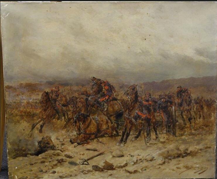 Beauquesne, convoi d'artillerie