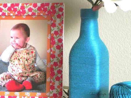 Vase laine bleu turquoise Au pays des Cactus 3
