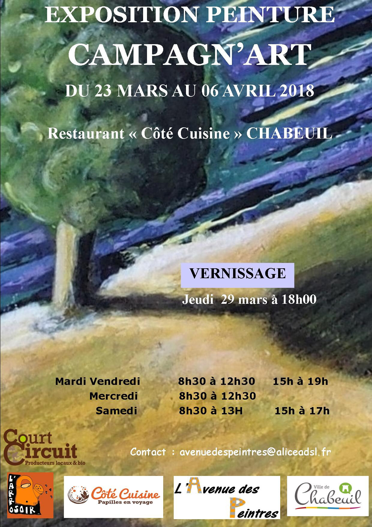 EXPOSITION MARS AVRIL 2018 A CHABEUIL
