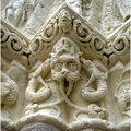 Argenton les Vallées. Chapiteau de l'église St Gilles.