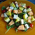 Salade pasteque melon feta