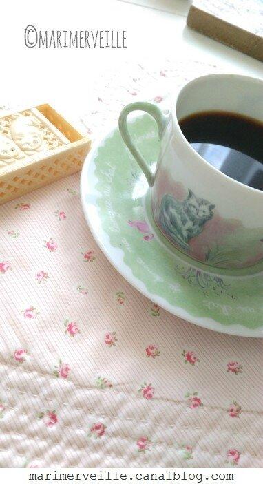 Tasse et sous-tasse aux chats 2 - Marimerveille