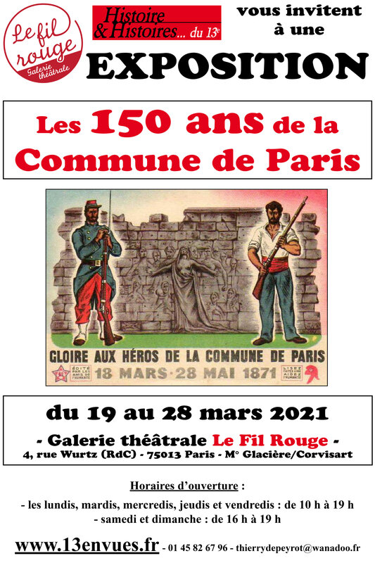 affiche 40X60 exposition la commune de paris