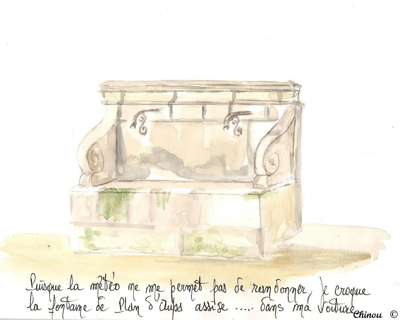 Fontaine adossée