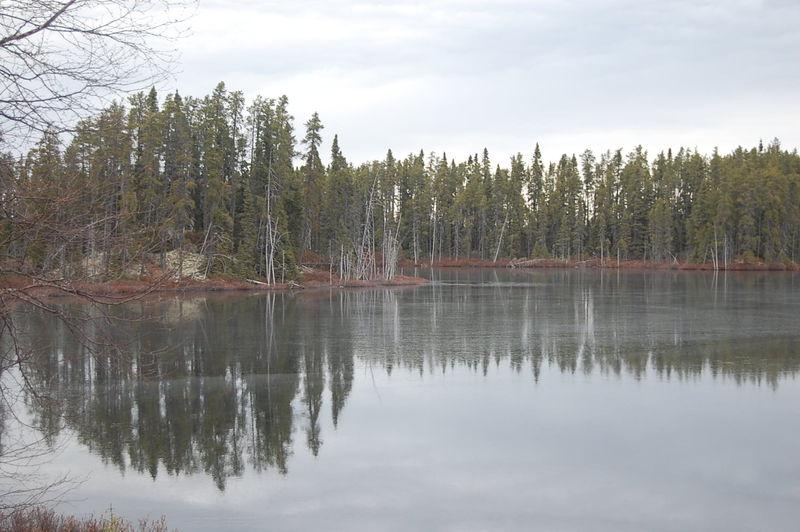 le lac sur glace!