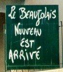 Ardoise ''Beaujolais nouveau''