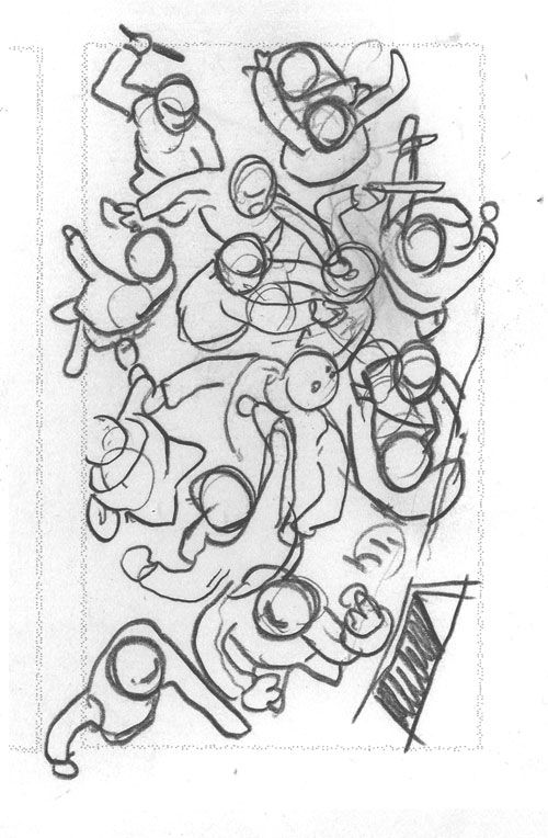 bagarre-crayonnée