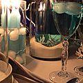 Nuit des anges décoratrice de mariage décoration de table turquoise exotique 017