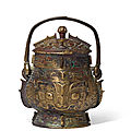 An Archaic Bronze Wine Vessel, You, Late Shang Dynasty-Western Zhou Dynasty, 12th-11th Century BC