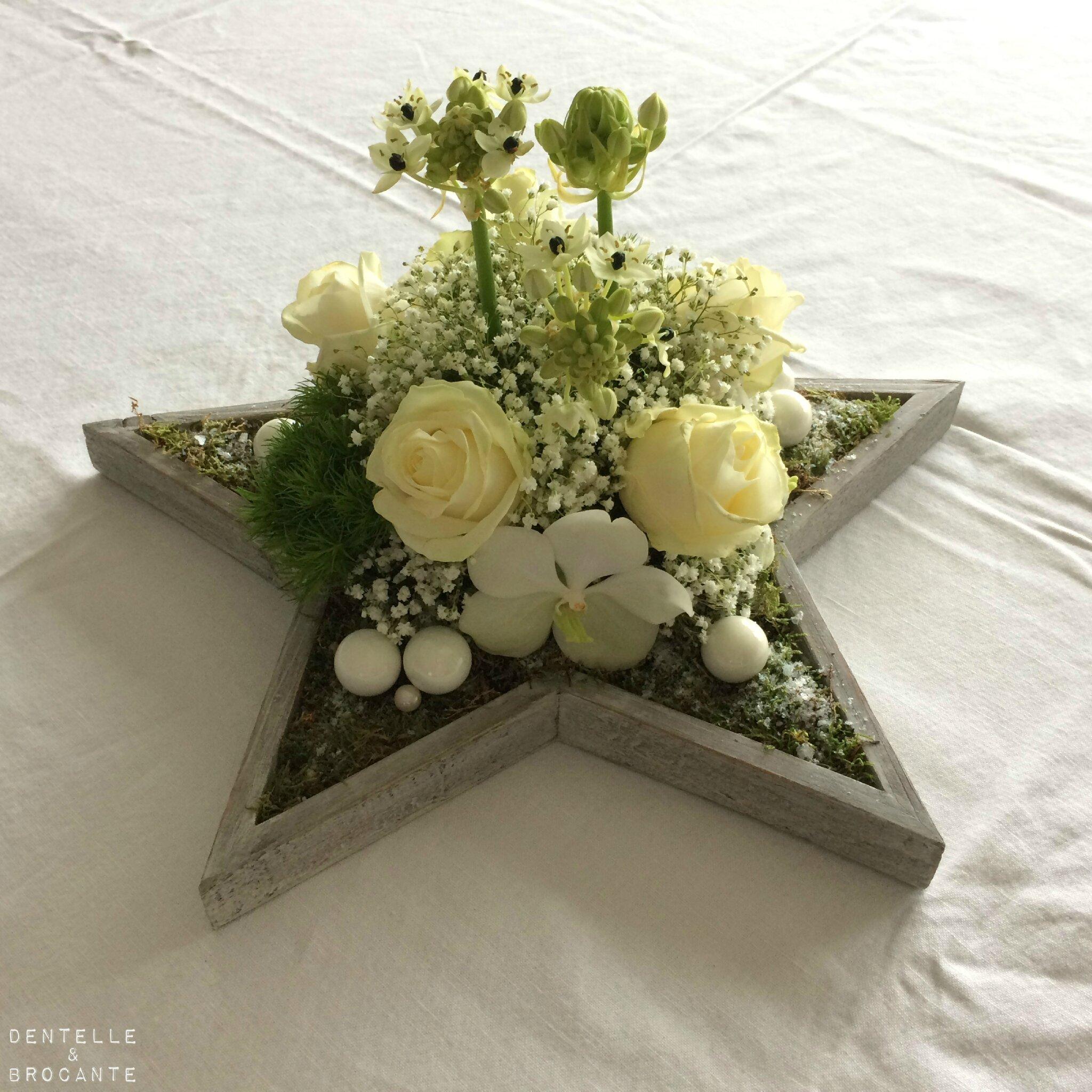 Compo florale: étoile de Noël!