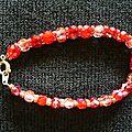 Bracelet double facettes tons Siam 2/2