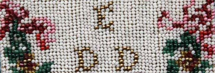 Initiales perlées