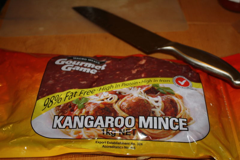 A little kangaroo meat, better than beef, both for the health and the environment apparently!