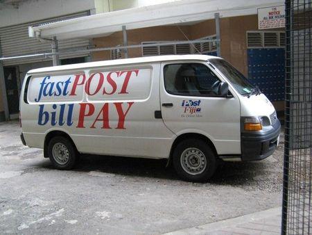 Post Fiji Mail Van