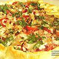 Tarte aux tomates et artichauts grillés