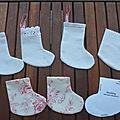 Mini-bottes de Noël
