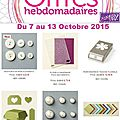 Offre hebdomadaire de stampin'up