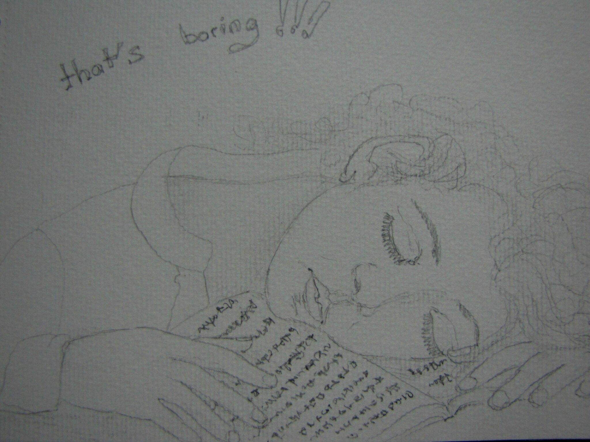 La reine des lectrices. Anonyme.