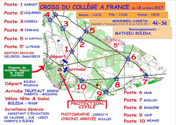 Photo parcours cross 4e-3e