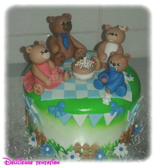 Gateau famille ours