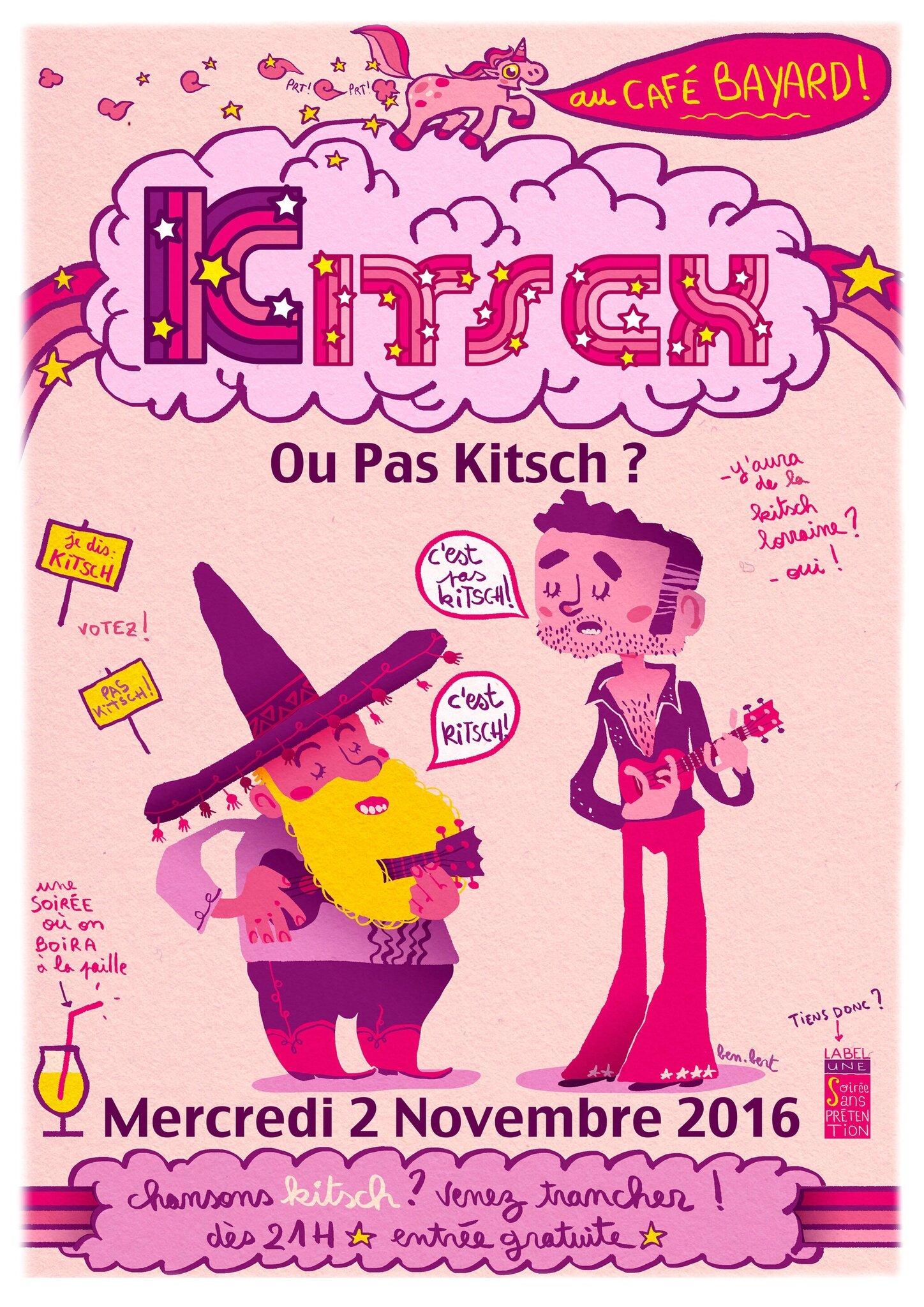 """soirée """"kitsch ou pas kistch ?"""" au café Bayard"""