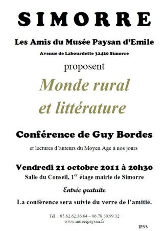 AFFICHE CONFERENCE SIMORRE
