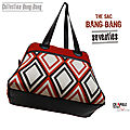 sac BANG-BANG- vintage - velours/ bagage week end BANG-BANG