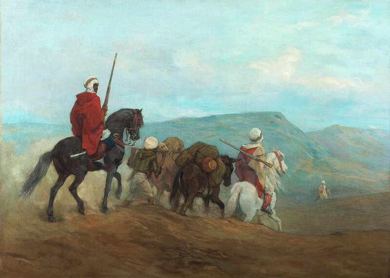 cavaliers arabes, Régamey, 1871