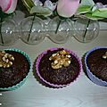 Muffins chocolat courgette sans beurre, participation bataille food #35