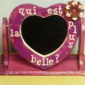 miroir coeur décoré (mimi)