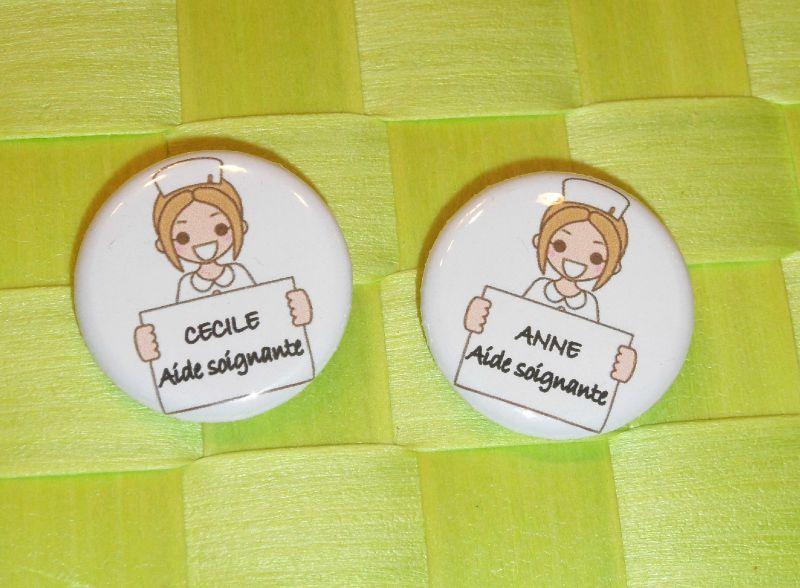 badges Anne et Cécile Aides soignantes