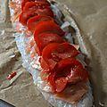 Sandre en rôti au saumon fumé et à la tomate