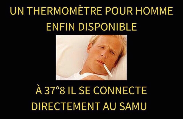 thermometre pour homme pronostic vital engage