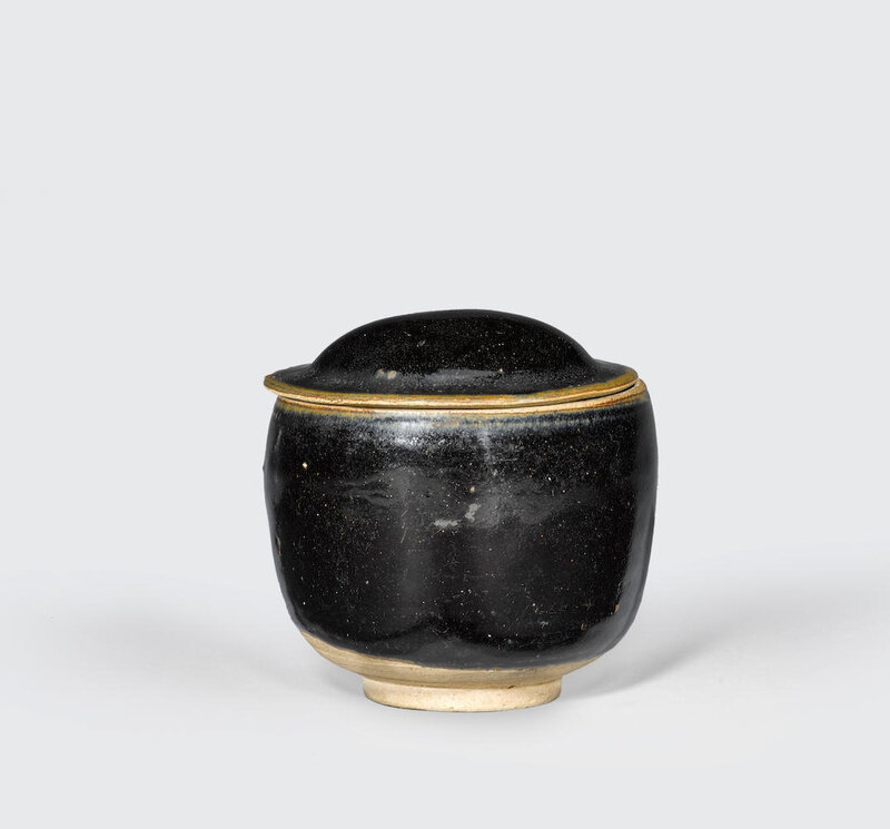 A Cizhou-type black glazed bowl and cover, Song-Jin dynasty, 12-13th century