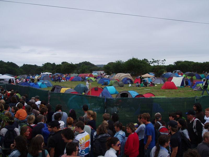 Camping du Festival du Bout du Monde (Crozon, août 2010)