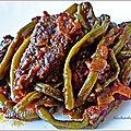 mijotée de haricots verts au bœuf