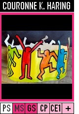 V343-COURONNES-Couronne KEITH HARING