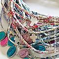 Bracelet double tour ou rond de serviette cadeau d'invités - 21 €