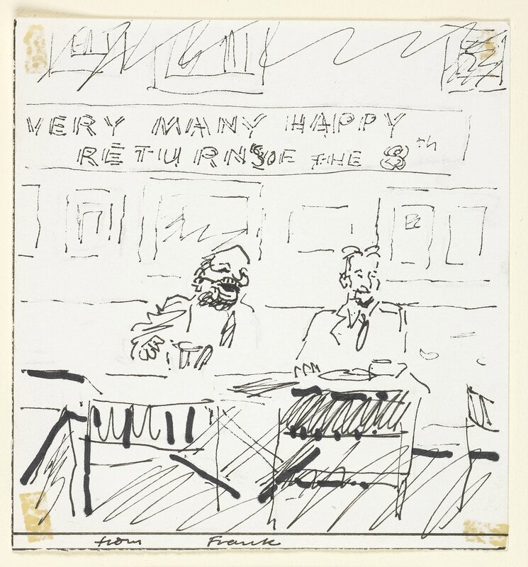Frank Auerbach, 'Birthday card from Frank Auerbach to Lucian Freud', 2002