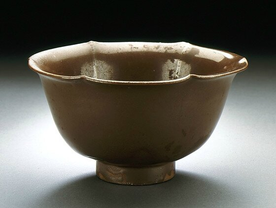 Bowl (Wan) in the Form of a Plum Blossom, Late Northern Song or Jin dynasty, about 1100-1234