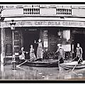 Place du Palais Bourbon - Inondation de 1910 - Paris 1900