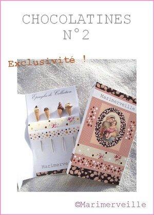 Epingles marimerveille chocolatines N°2