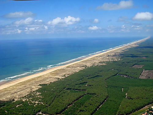 Photo-plus-longue-plage-biscarrosse-plage