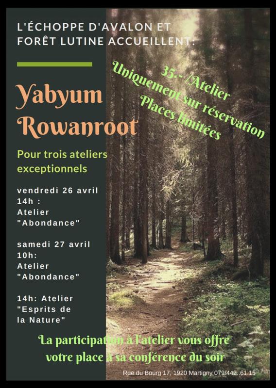 Nouveaux ateliers et conférence dans le Valais
