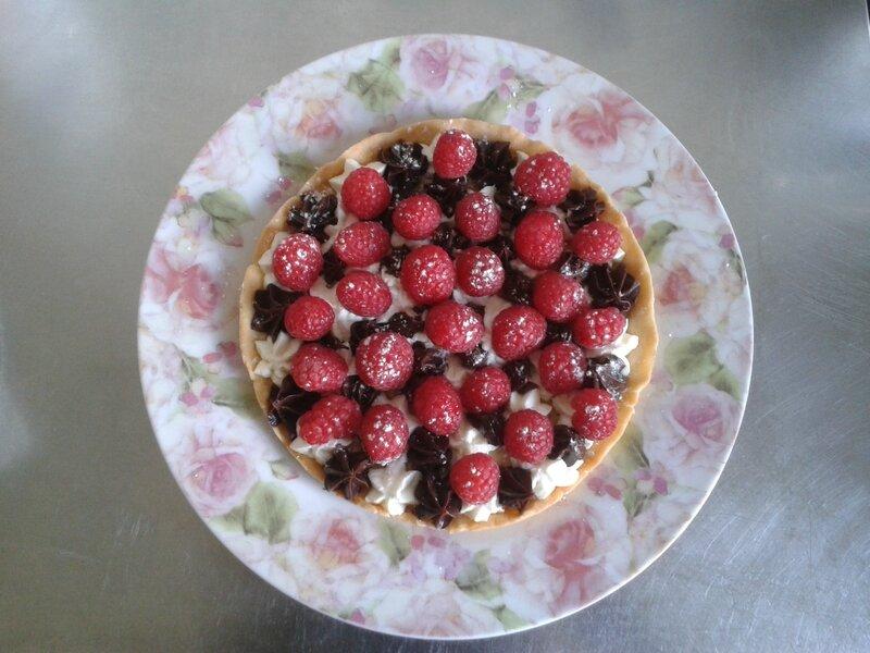 tarte à la framboise ( du chef Custos)