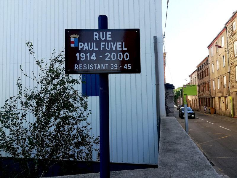 plaque rue Paul Fuvel, résistant, 16 juillet 2019, 10 h 17