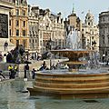 Royaume uni - Londres - Trafalgar square - Fontaines