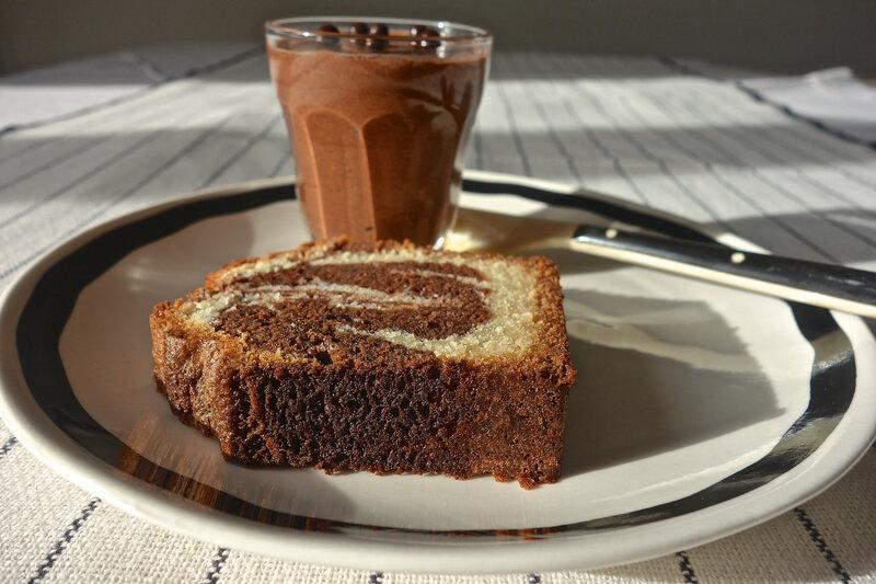 marbré vanille-chocolat - mousse au chocolat
