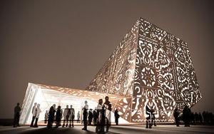 illustration du pavillon polonais de nuit - Shanghai 2010