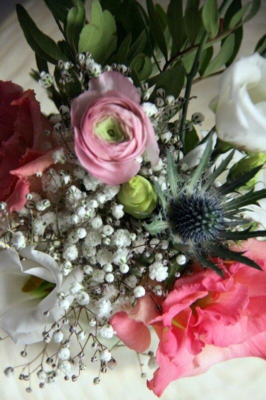 Décoration mariage - Petit centre de table champêtre - création La Saladelle - Atelier floral Perpignan et Pyrénées-Orientales 06